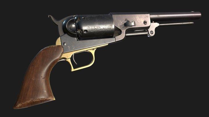 Colt Walker Game ready asset 3D Model