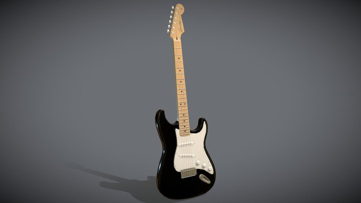 Electric Guitar (Fender Stratocaster) 3D Model