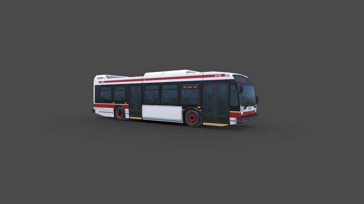 NovaBus LFS Transit Bus 3D Model
