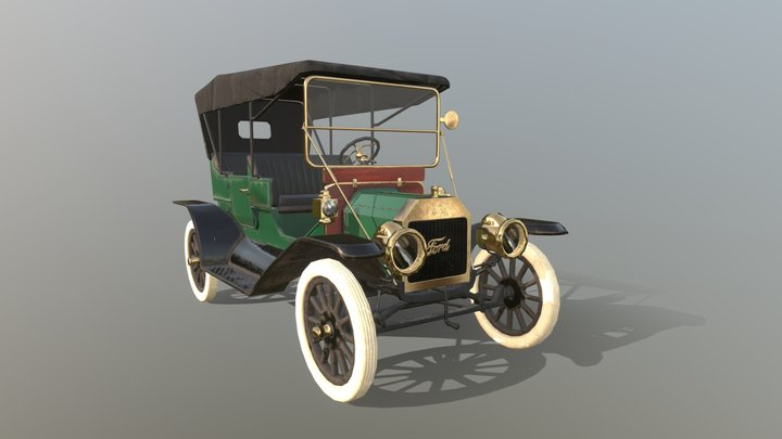 Ford T 1911 3D Model