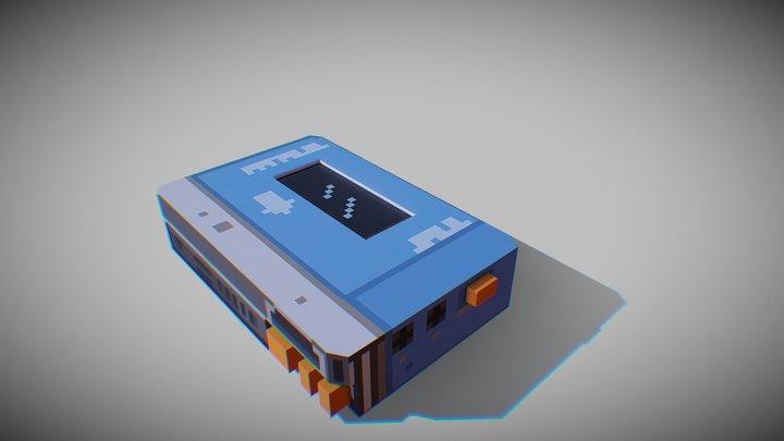 Walkman - Low Poly/Pixel Art - 3D Model