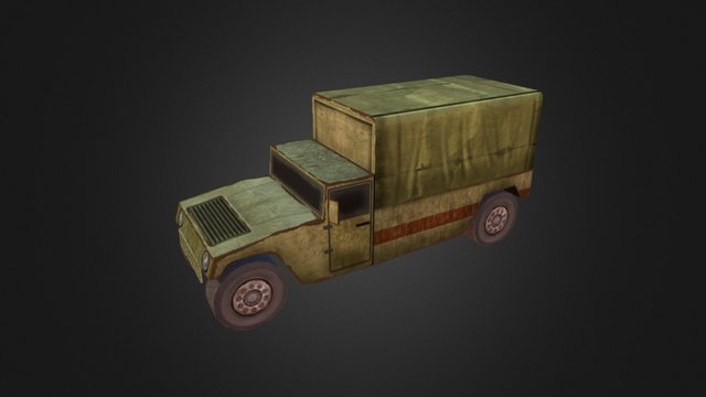 LowPoly Game Truck 3D Model