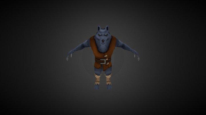 Stylized Wolf 3D Model