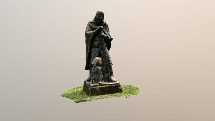 Mann mit Hund 3D Model