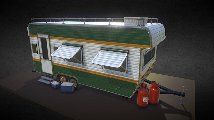 Trailer Car 3D Model