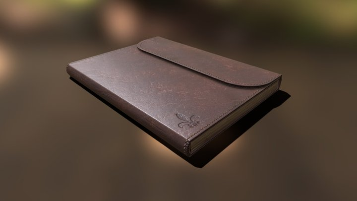 Leather Journal - 3D Model Asset 3D Model