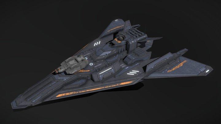 Scifi Frigate Outlaw 3D Model