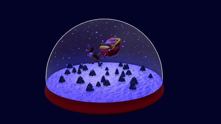 Santa Lost - Snow globe 3D Model