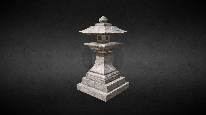 Japanese Lantern (Tōrō) 3D Model