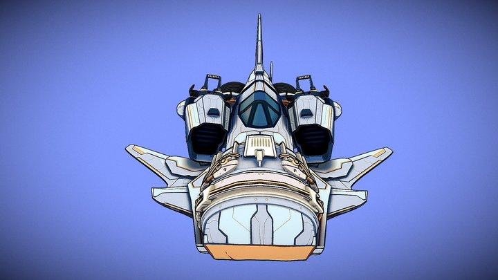 SPACE SHIP RETRO EVO 3D Model