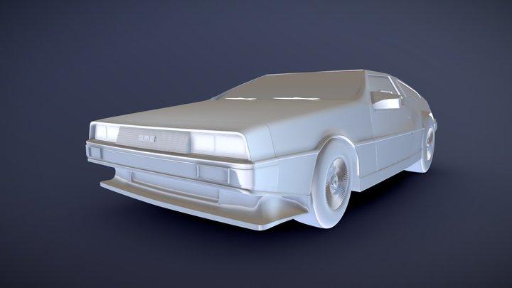 DeLorean DMC-12 3D Model