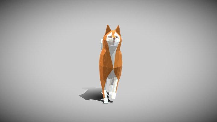 ORIGAMI---Dog Walking 3D Model