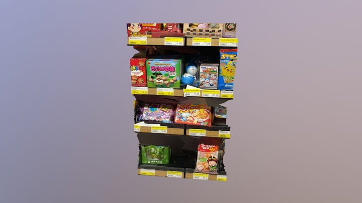 Mitsuwa Store Shelf 3D Model