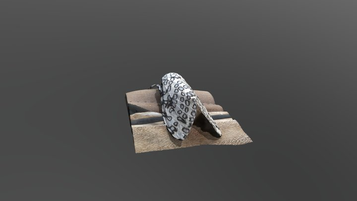 Giant Leopard Moth 3D Model