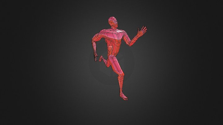 Low Poly Male Character 3D Model