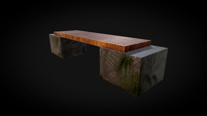 Banco de praça 3D Model