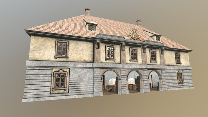 Christiania Fjerde Tollbod 3D Model