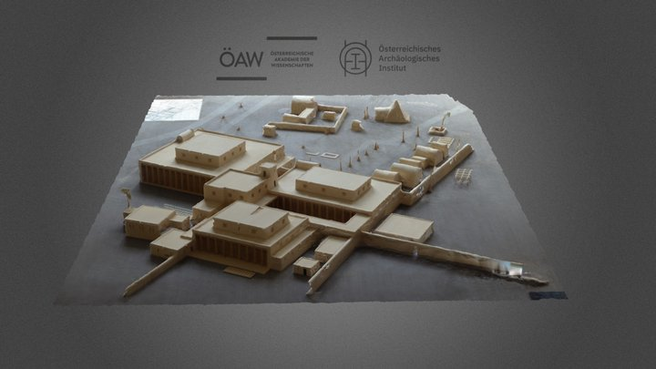 Wooden reconstruction of Tell el-Daba F/I Palace 3D Model