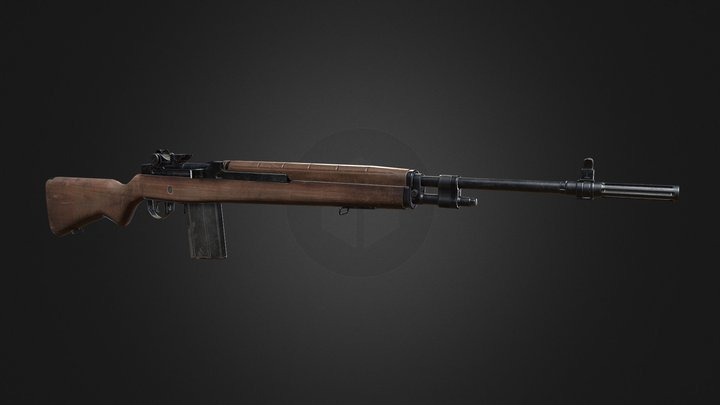 Springfield Armory M1A 3D Model