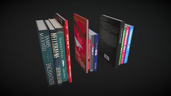 Random Books 3D Model