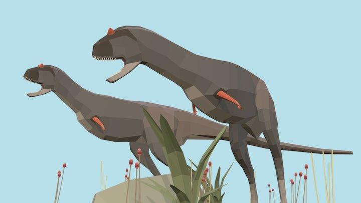 Carnotaurus sastrei - Diorama 3D Model