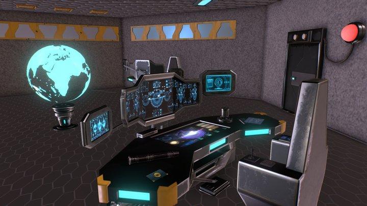 Sci Fi Room Model 3D Model