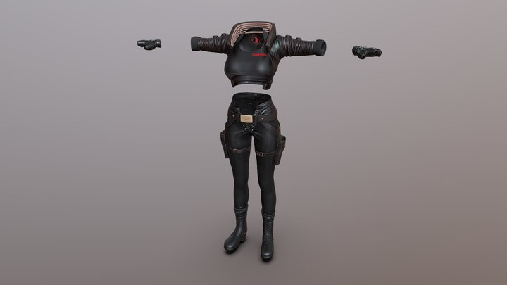 Lara CP Outfit 3D Model