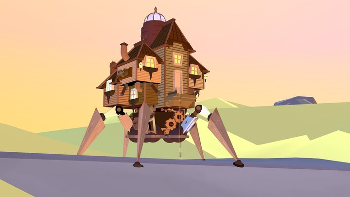 Casa mecánica 3D Model