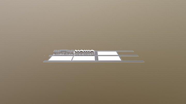 Simple Row Houses 3D Model
