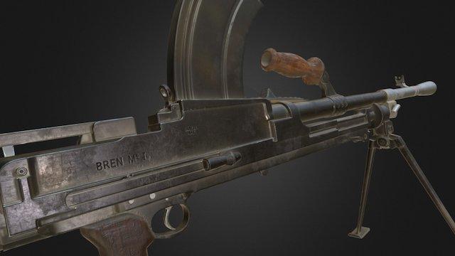 Bren Mk1 LMG 3D Model