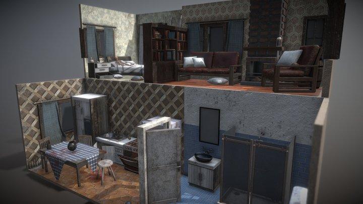 Abandoned Rooms 3D Model
