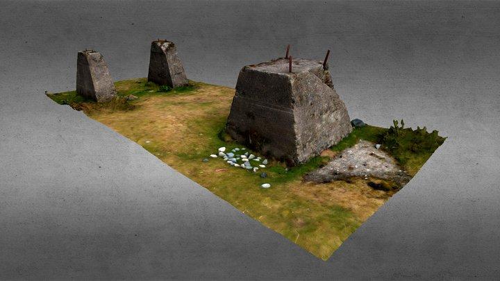 WW2 concrete Radar Foundation 3D Model