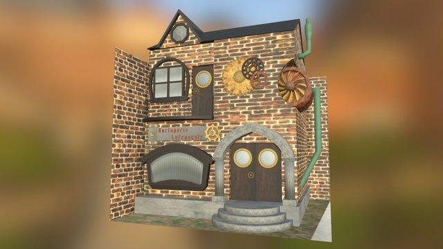Bâtisse Steampunk sur Blender 3D Model