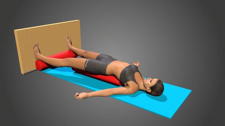 Yoga Pose Setu Bandha Sarvangasana 3D Model