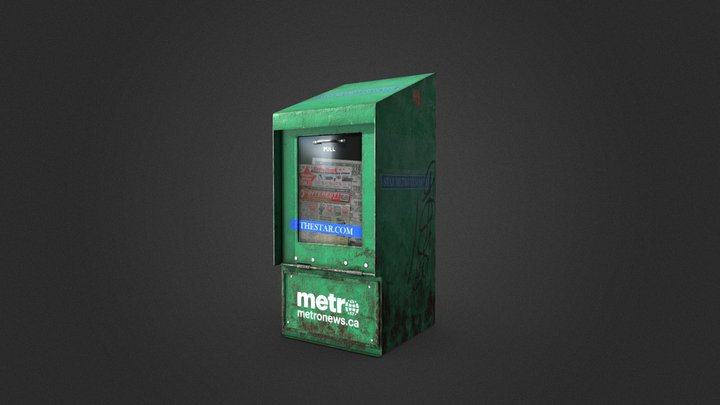 Vancouver Street News Stand 3D Model