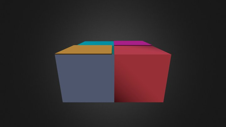 Cubo Multicolor 3D Model