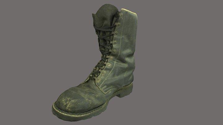 Boot low poly 3D model 3D Model