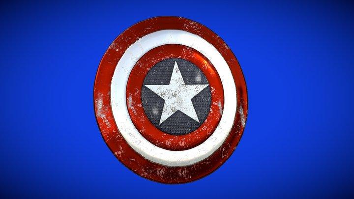 Marvel Comics - Captain America's Shield 3D Model