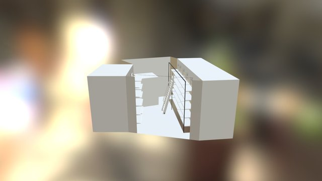Box Quotato Scala 3D Model