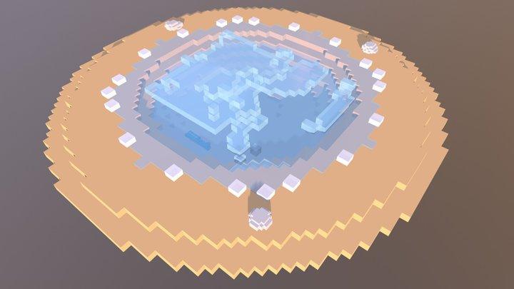 voxel circle shore 3D Model