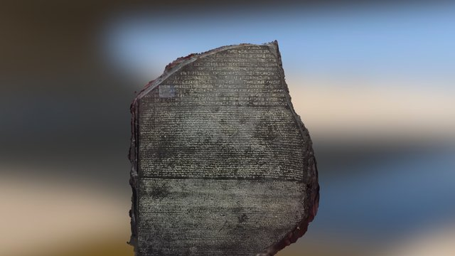 Rosetta Stone 3D Model
