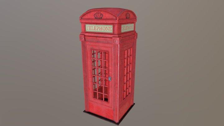 Classic British Phonebox 3D Model