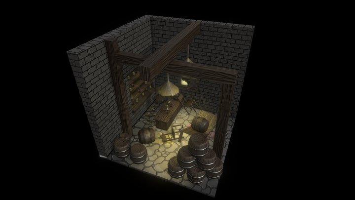 Cubic Room: Barfight 3D Model