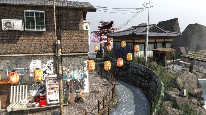 Arthur Sirjacobs - Kyoto City Scene 3D Model