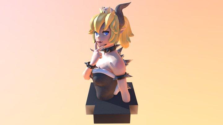 Princess Bowsette 3D Model