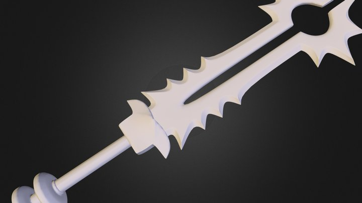 Diablo 3 Sword (High Poly) 3D Model