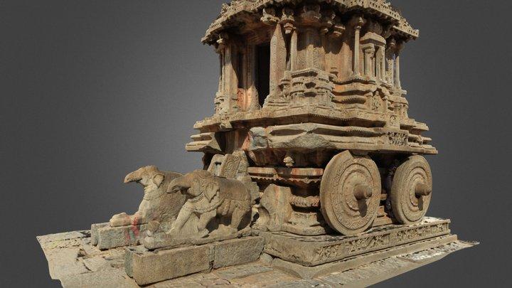 Stone Chariot in Hampi, India 3D Model