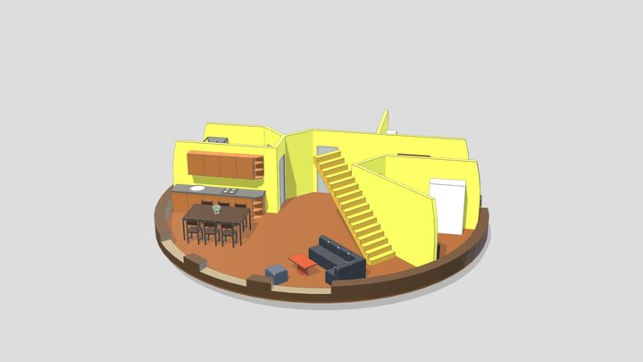 """3d Dome interior (1/2) 11m UAB """"SFEROS"""" 3D Model"""