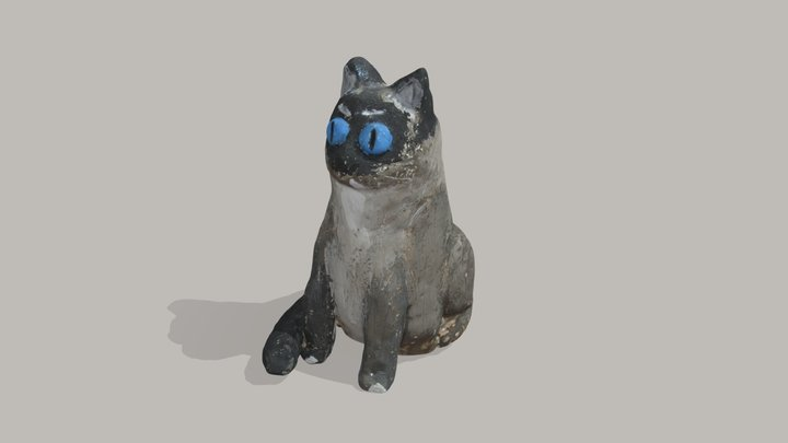 Cat Figurine 3D Model