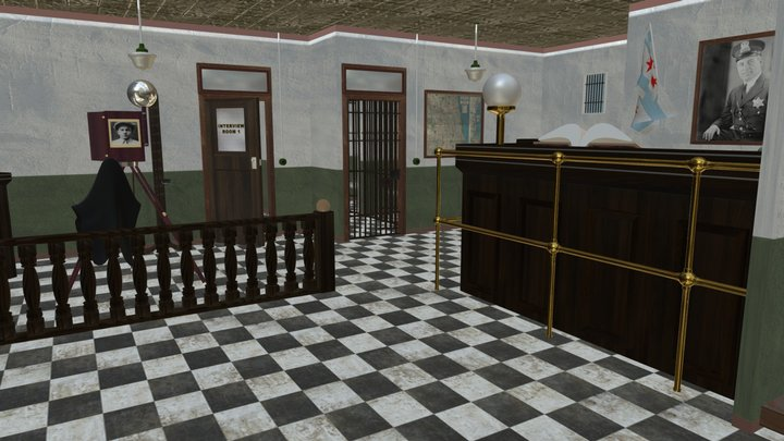 Our Town Police Station 3D Model